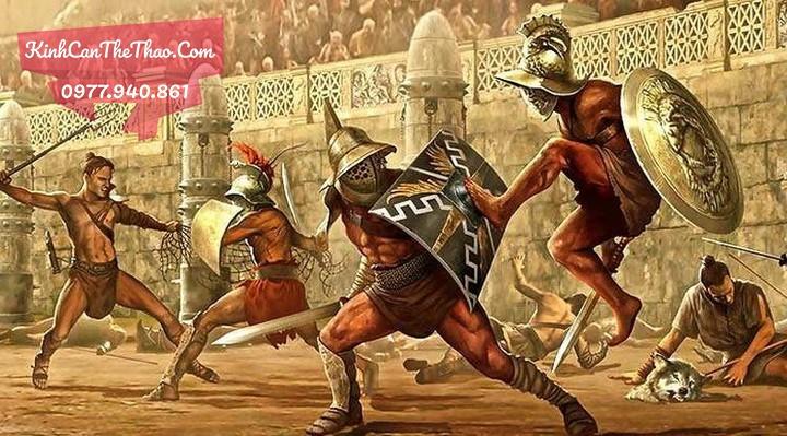 mũ bảo vệ đầu võ sĩ giáp đấu cổ đại